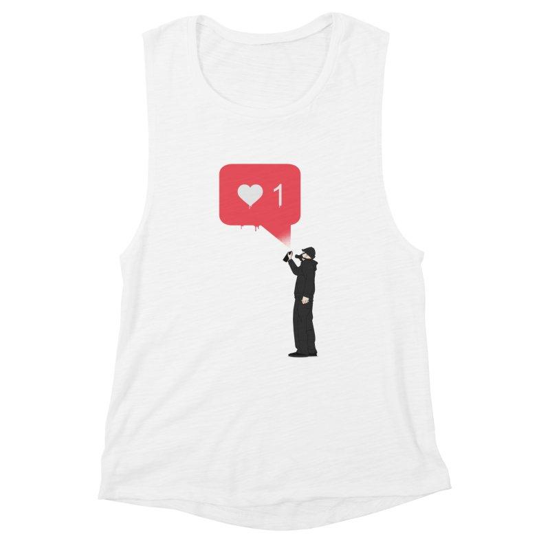 Modern Heart Women's Muscle Tank by I am a graphic designer