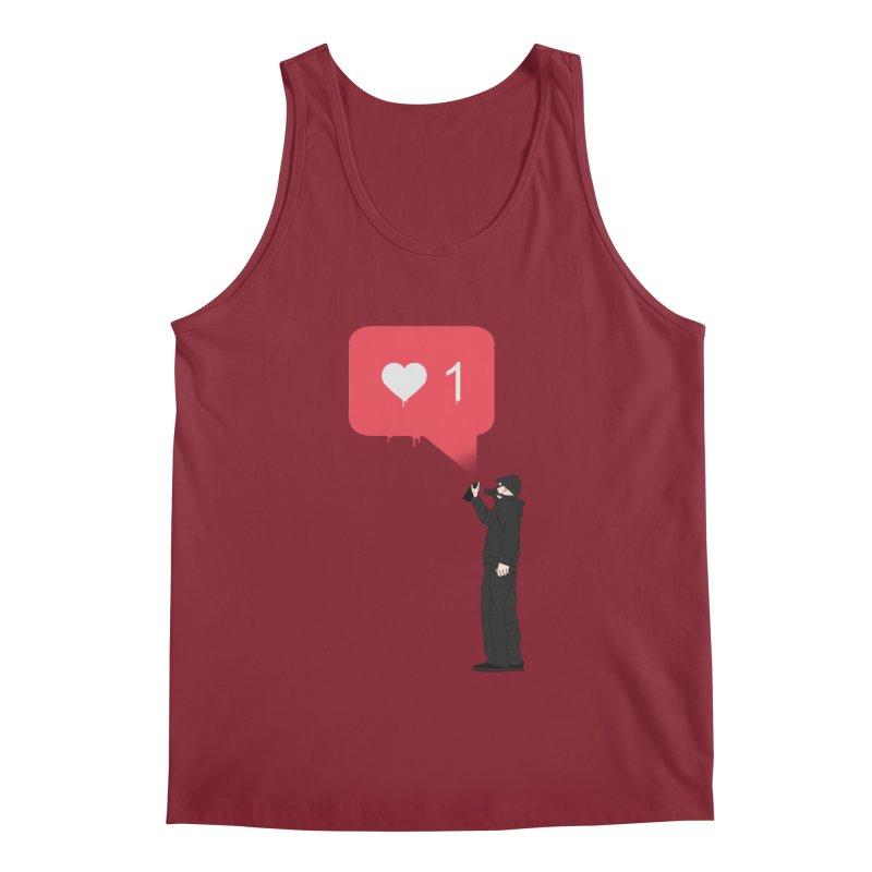 Modern Heart Men's Regular Tank by I am a graphic designer