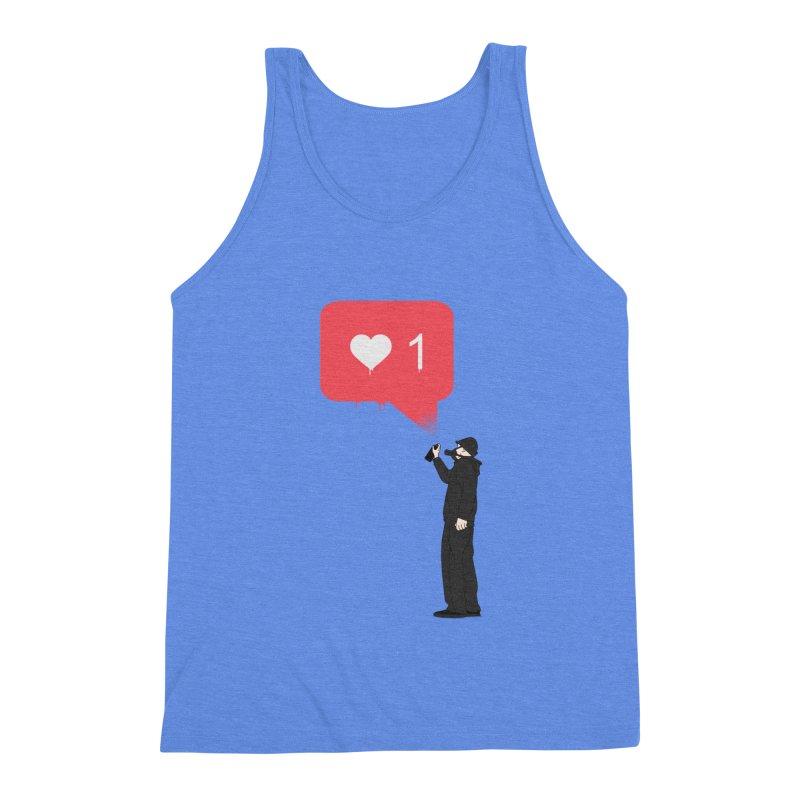 Modern Heart Men's Triblend Tank by I am a graphic designer