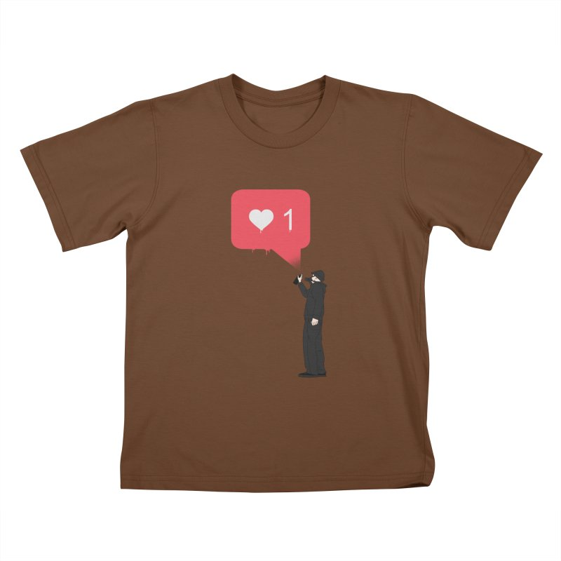 Modern Heart Kids T-Shirt by I am a graphic designer