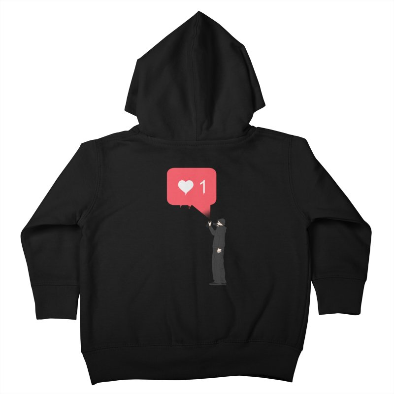 Modern Heart Kids Toddler Zip-Up Hoody by I am a graphic designer