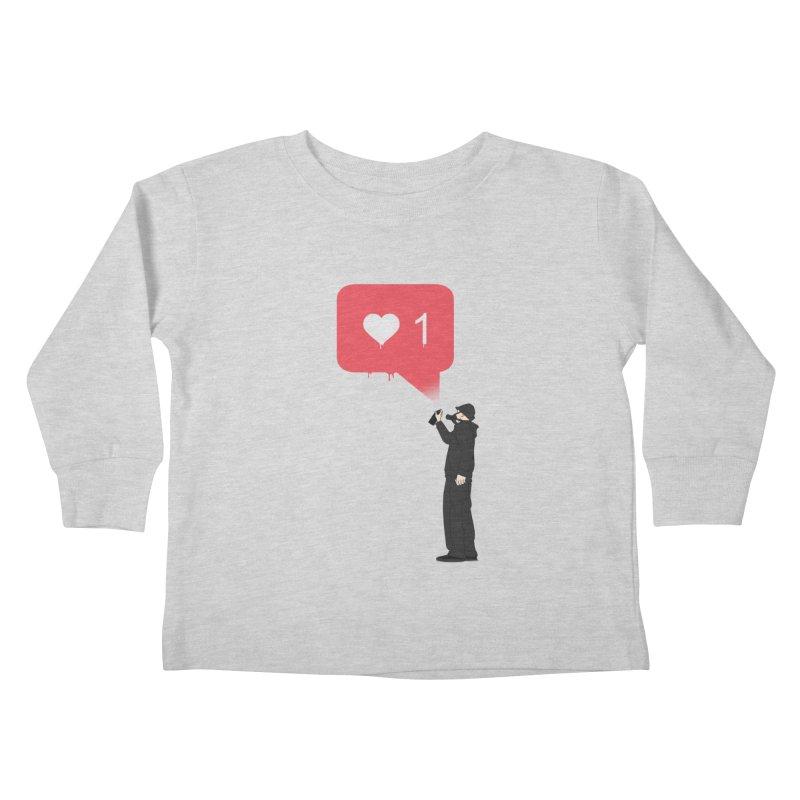 Modern Heart Kids Toddler Longsleeve T-Shirt by I am a graphic designer