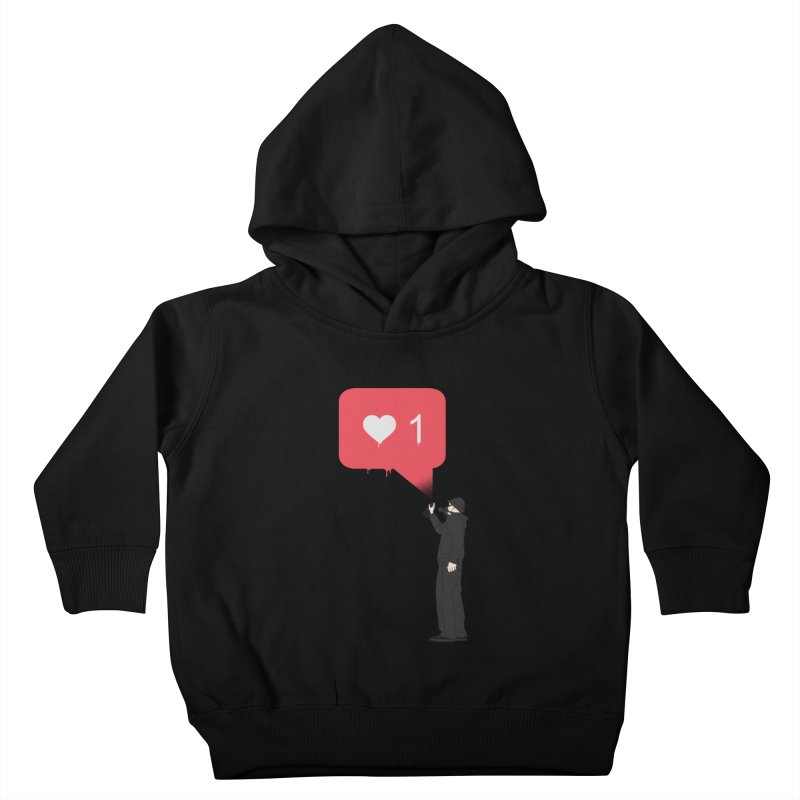 Modern Heart Kids Toddler Pullover Hoody by I am a graphic designer
