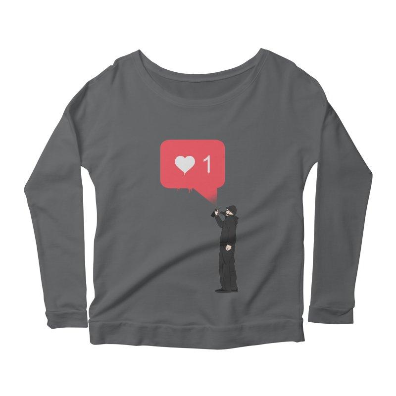 Modern Heart Women's Scoop Neck Longsleeve T-Shirt by I am a graphic designer