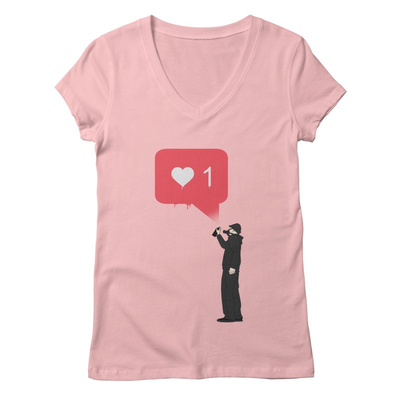 Modern Heart Women's Regular V-Neck by I am a graphic designer