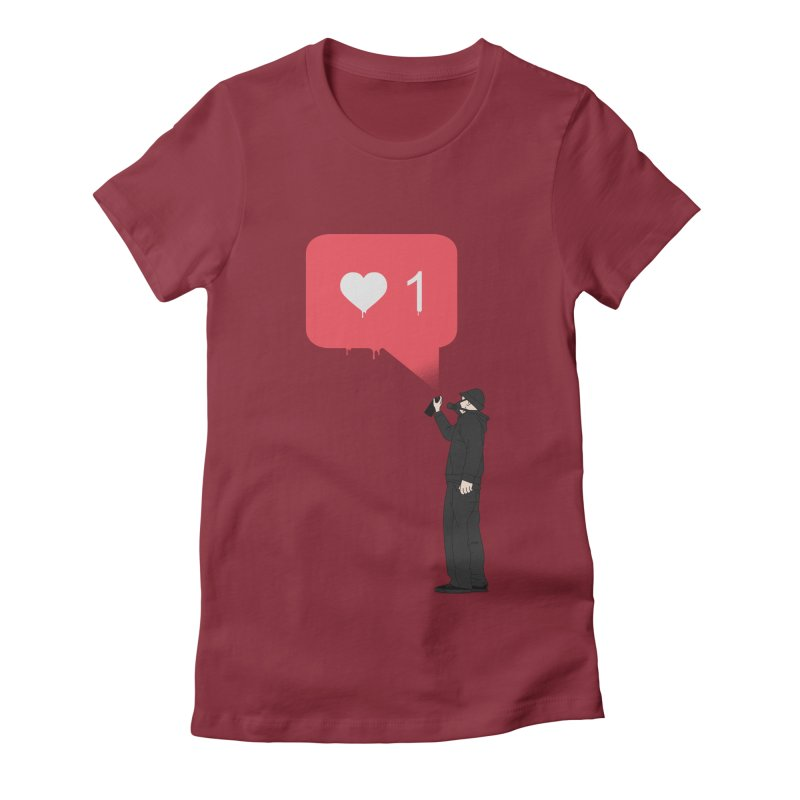 Modern Heart Women's Fitted T-Shirt by I am a graphic designer