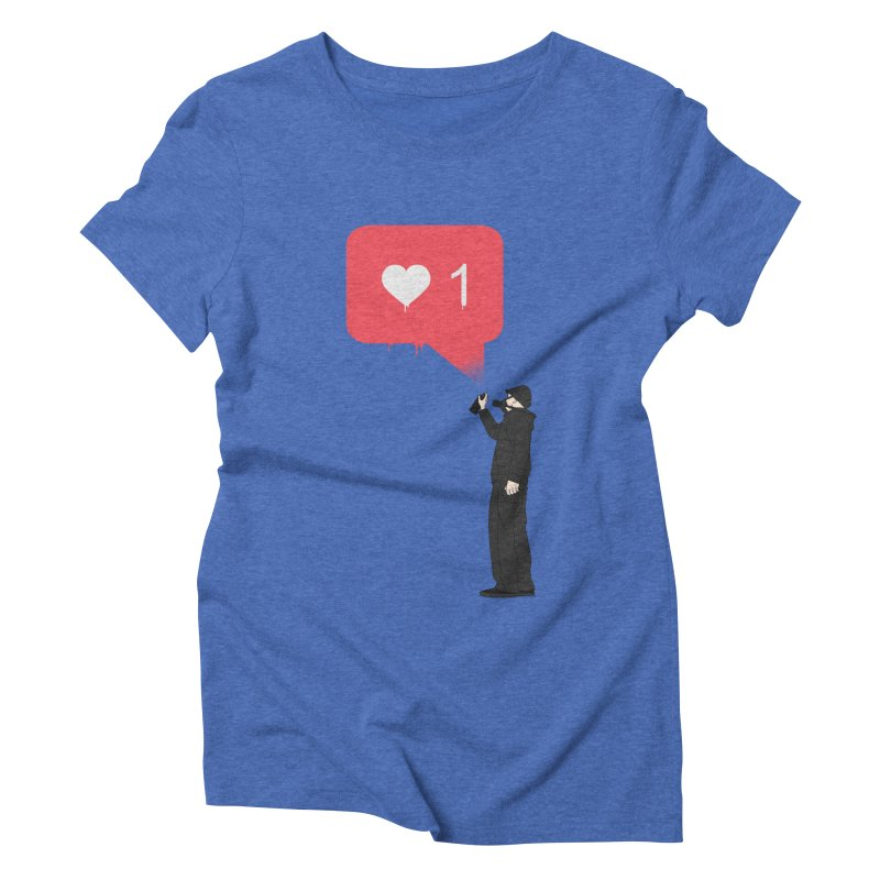 Modern Heart Women's Triblend T-Shirt by I am a graphic designer