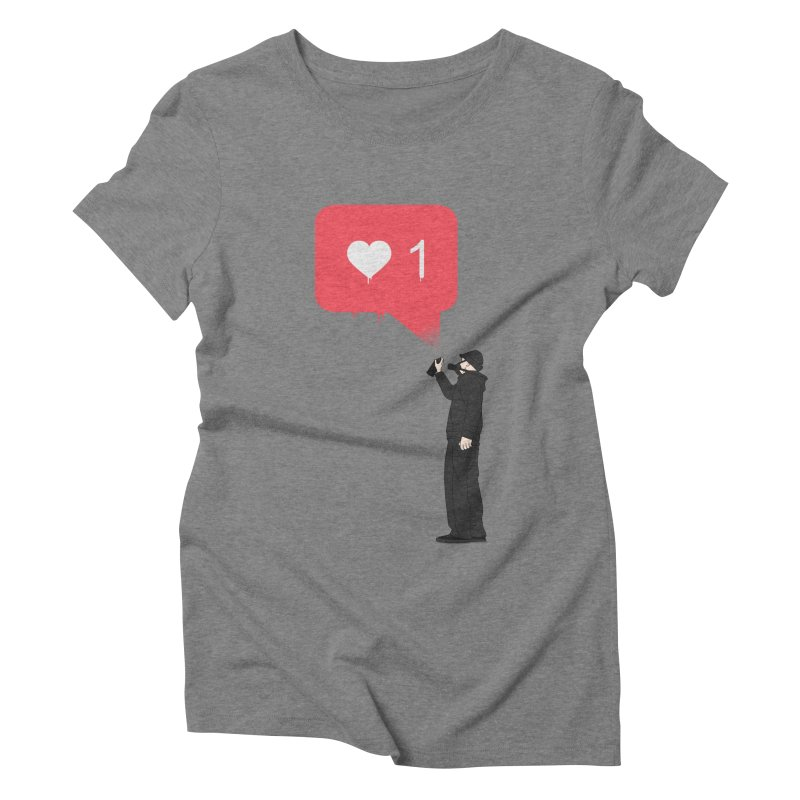 Modern Heart Women's Triblend T-Shirt by I am a graphic designer