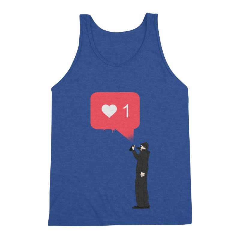 Modern Heart Men's Triblend Tank by I am a graphic designer