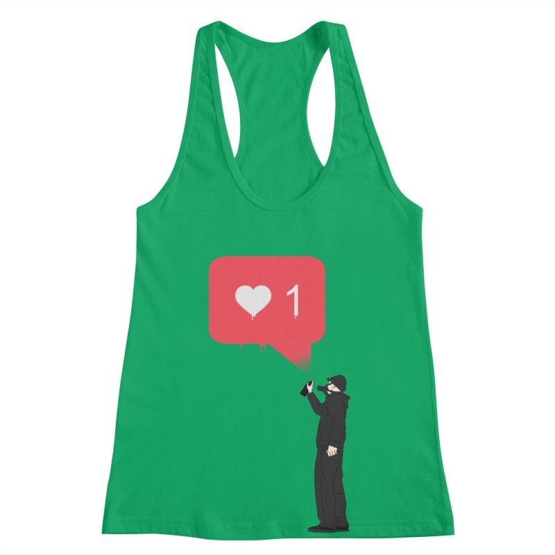 Modern Heart Women's Racerback Tank by I am a graphic designer