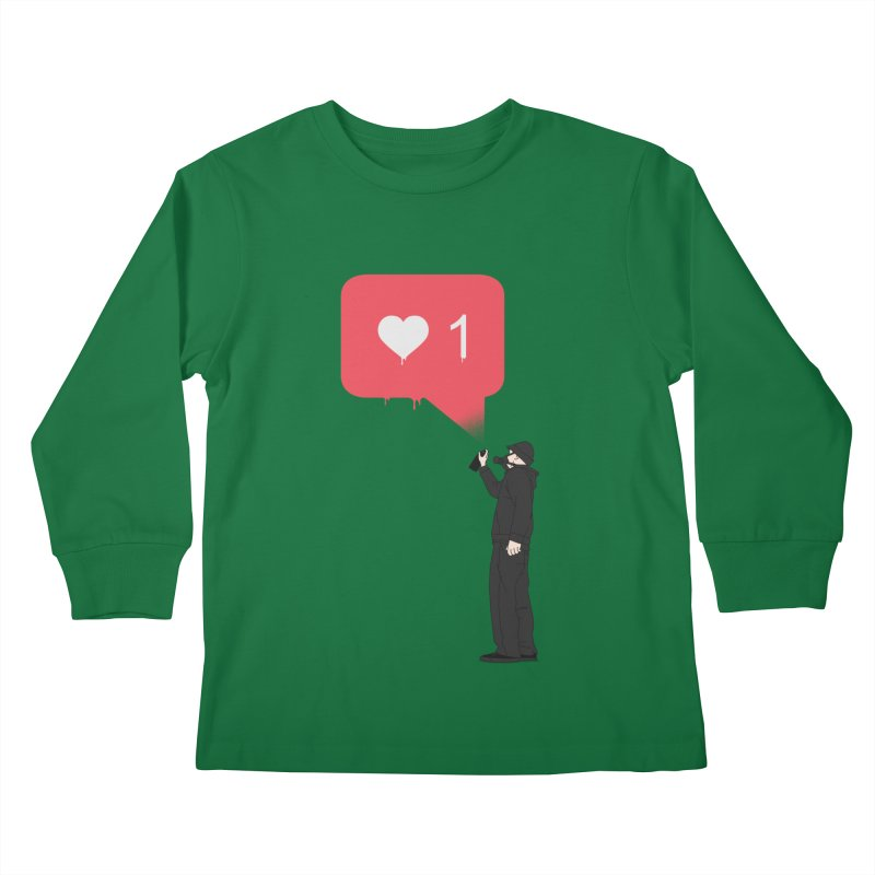 Modern Heart Kids Longsleeve T-Shirt by I am a graphic designer