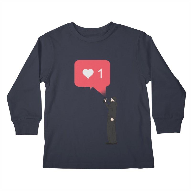 Modern Heart Kids Longsleeve T-Shirt by I am a graphic designer