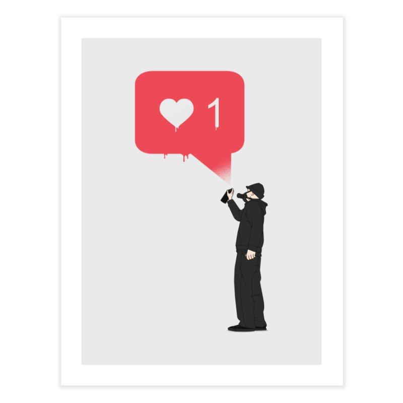 Modern Heart Home Fine Art Print by I am a graphic designer