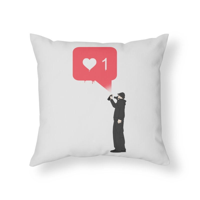 Modern Heart Home Throw Pillow by I am a graphic designer