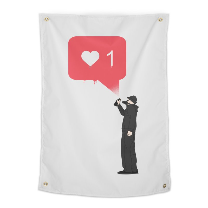 Modern Heart Home Tapestry by I am a graphic designer