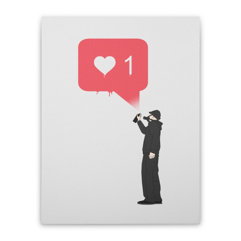 Modern Heart Home Stretched Canvas by I am a graphic designer