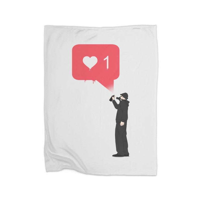 Modern Heart Home Fleece Blanket Blanket by I am a graphic designer