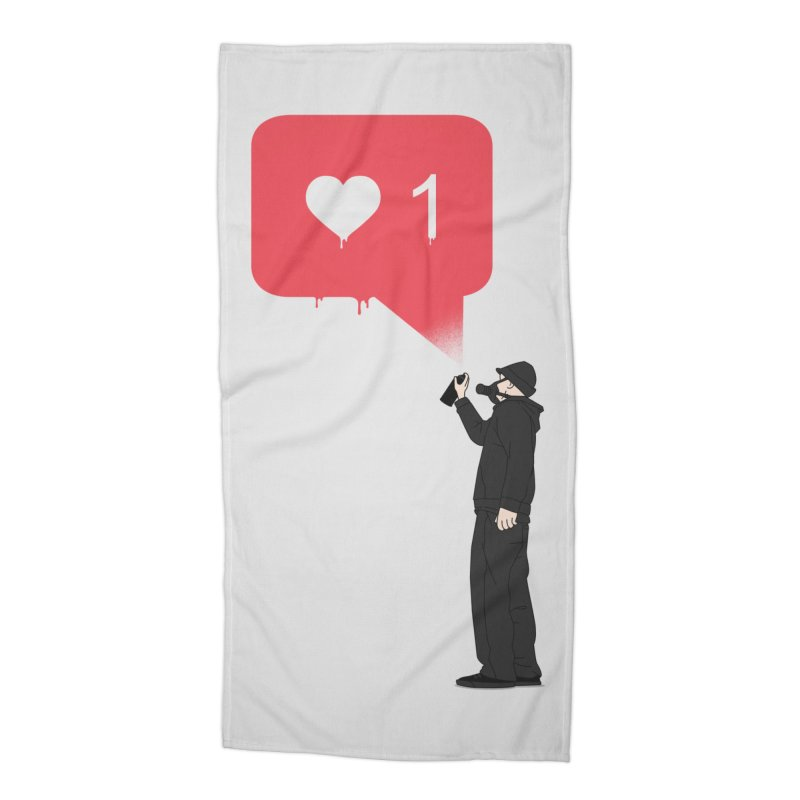 Modern Heart Accessories Beach Towel by I am a graphic designer