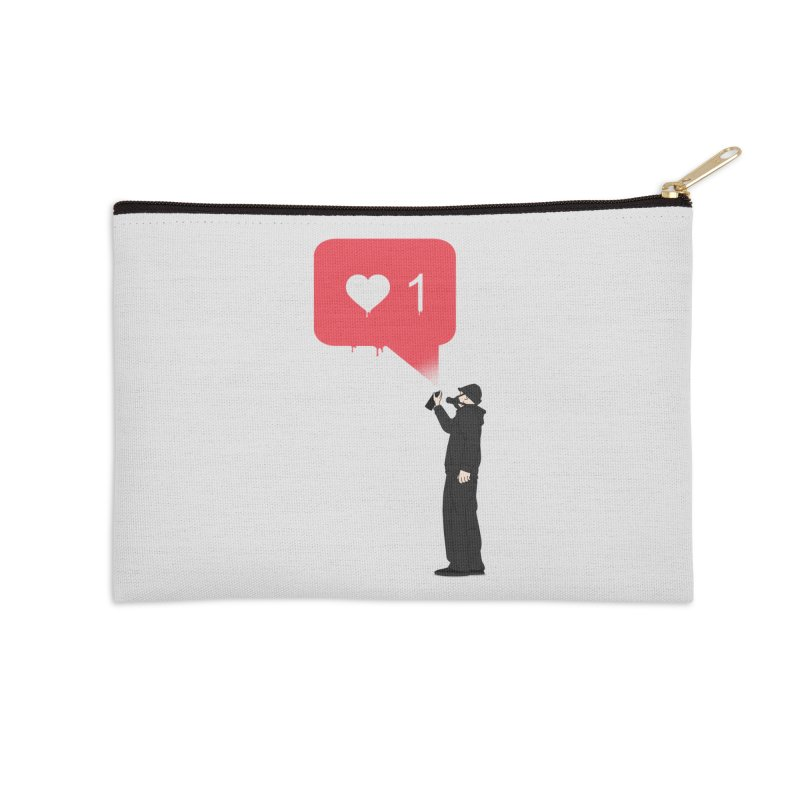 Modern Heart Accessories Zip Pouch by I am a graphic designer
