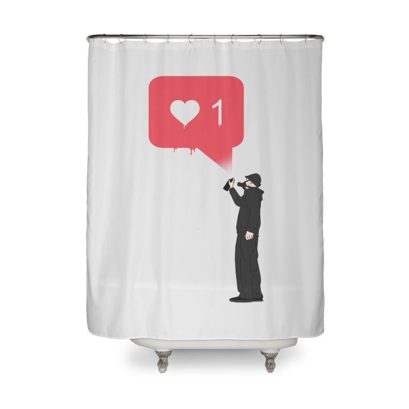 Modern Heart Home Shower Curtain by I am a graphic designer