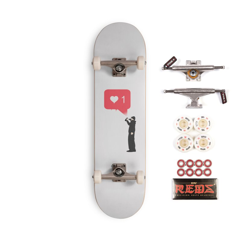 Modern Heart Accessories Complete - Pro Skateboard by I am a graphic designer