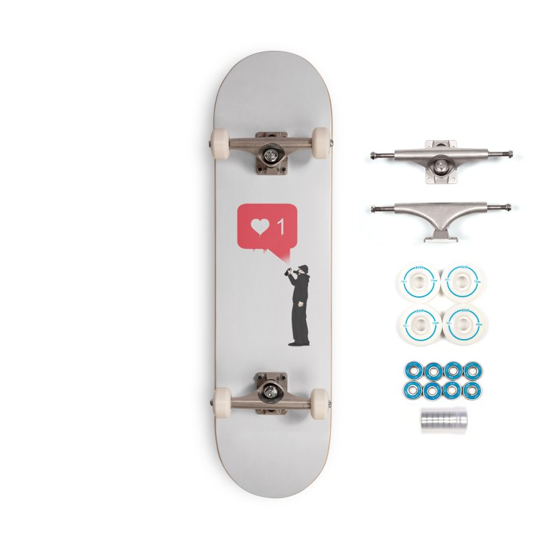Modern Heart Accessories Complete - Basic Skateboard by I am a graphic designer
