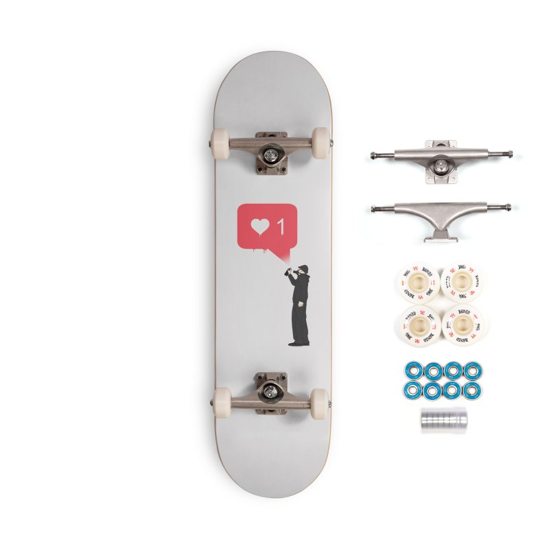 Modern Heart Accessories Complete - Premium Skateboard by I am a graphic designer