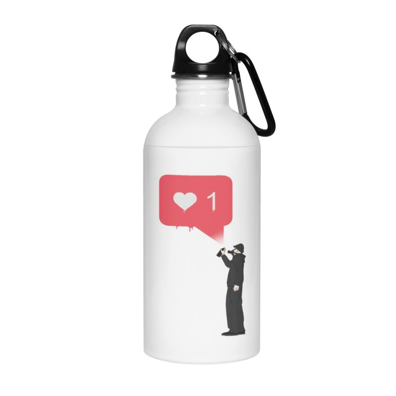 Modern Heart Accessories Water Bottle by I am a graphic designer