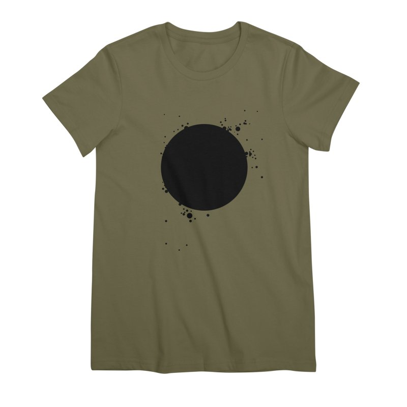 Black Hole Women's Premium T-Shirt by I am a graphic designer
