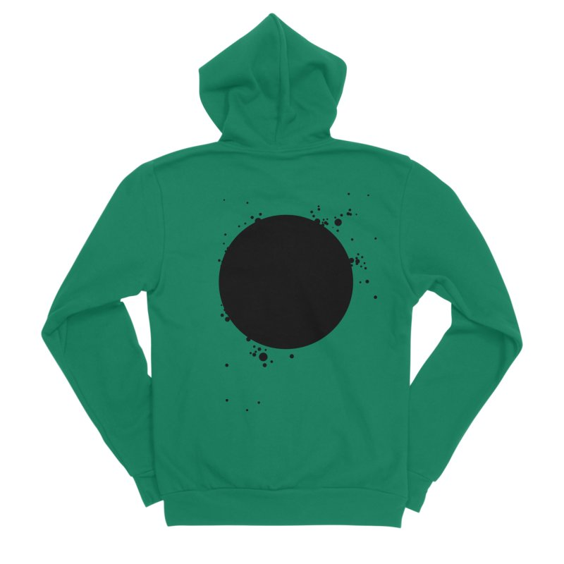 Black Hole Men's Sponge Fleece Zip-Up Hoody by I am a graphic designer