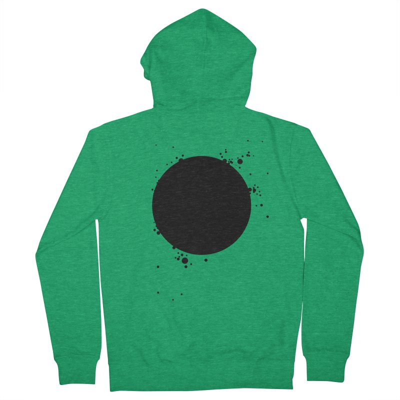 Black Hole Men's French Terry Zip-Up Hoody by I am a graphic designer