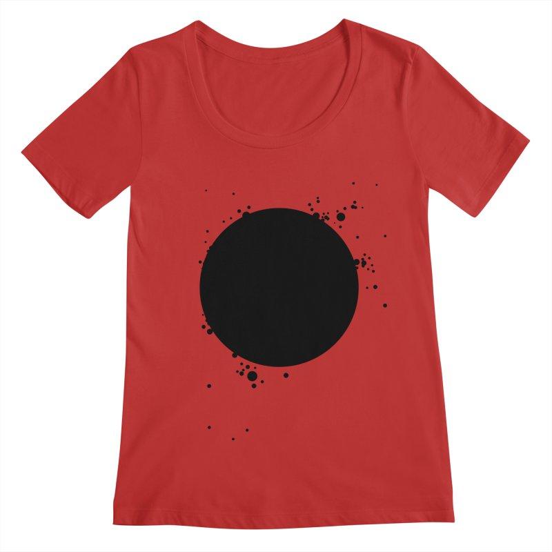 Black Hole Women's Regular Scoop Neck by I am a graphic designer