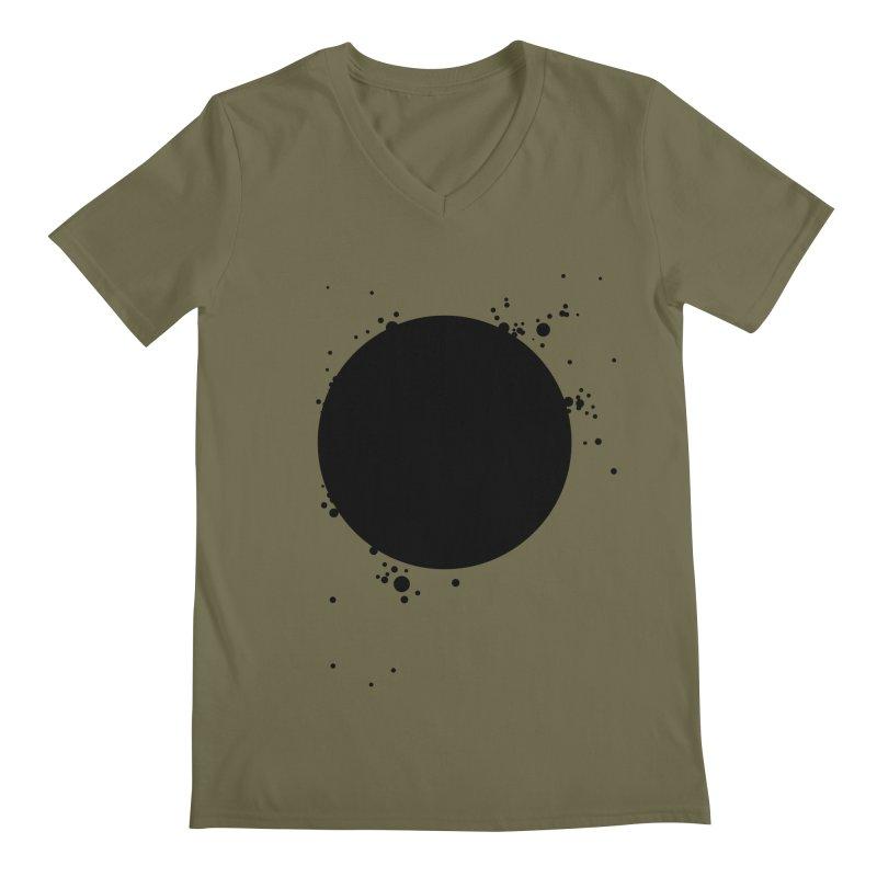 Black Hole Men's Regular V-Neck by I am a graphic designer