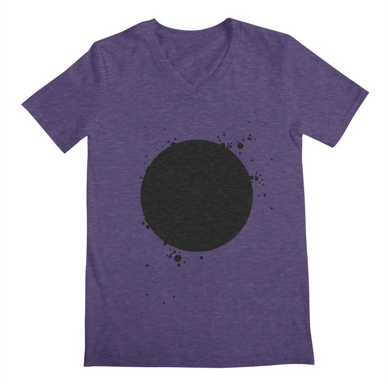Black Hole Men's Regular V-Neck by I am a graphic designer