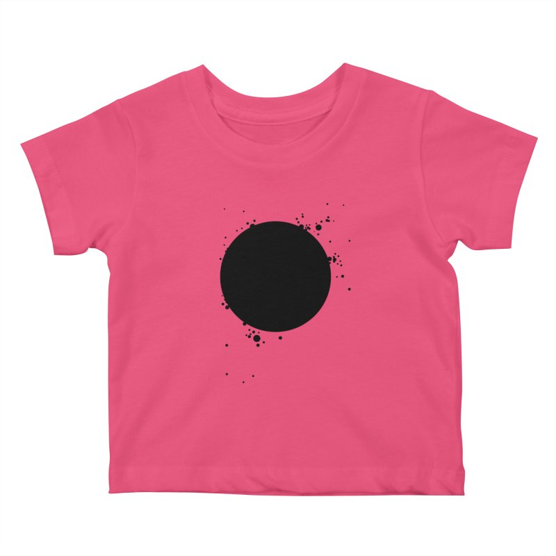 Black Hole Kids Baby T-Shirt by I am a graphic designer