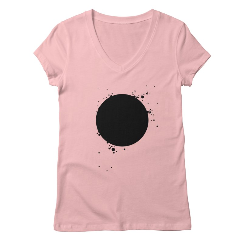 Black Hole Women's Regular V-Neck by I am a graphic designer