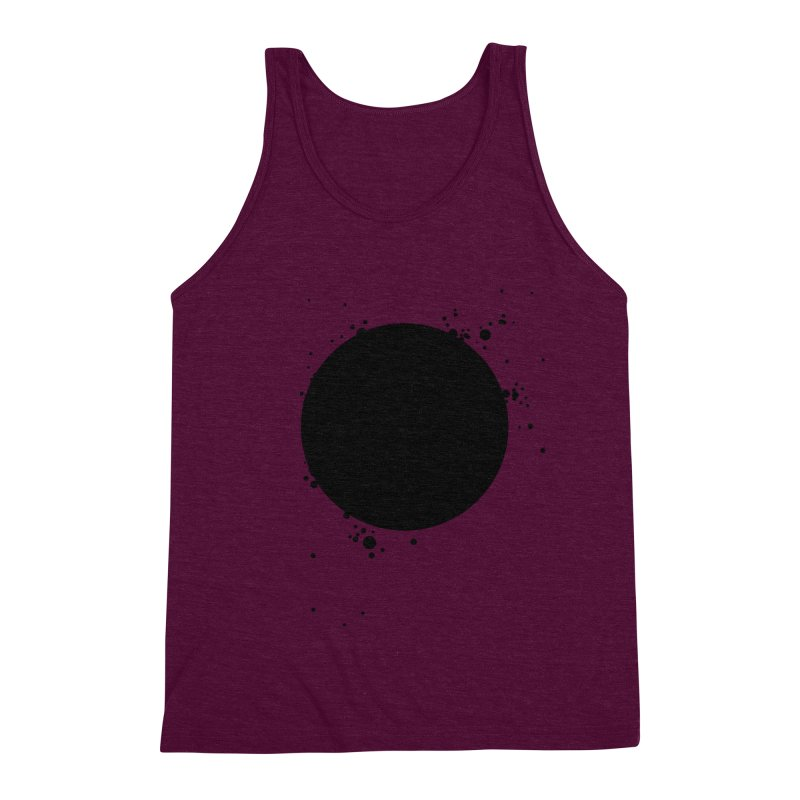 Black Hole Men's Triblend Tank by I am a graphic designer