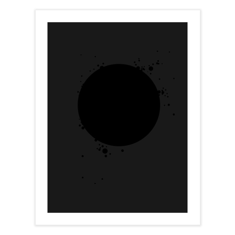 Black Hole Home Fine Art Print by I am a graphic designer