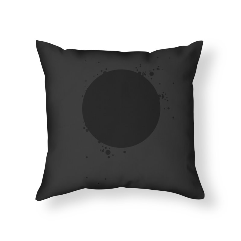 Black Hole Home Throw Pillow by I am a graphic designer