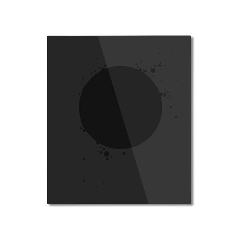 Black Hole Home Mounted Aluminum Print by I am a graphic designer