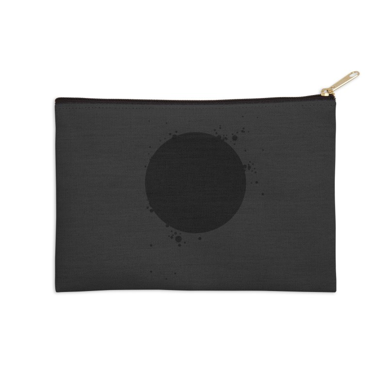 Black Hole Accessories Zip Pouch by I am a graphic designer
