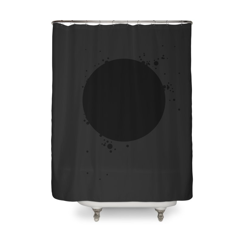 Black Hole Home Shower Curtain by I am a graphic designer