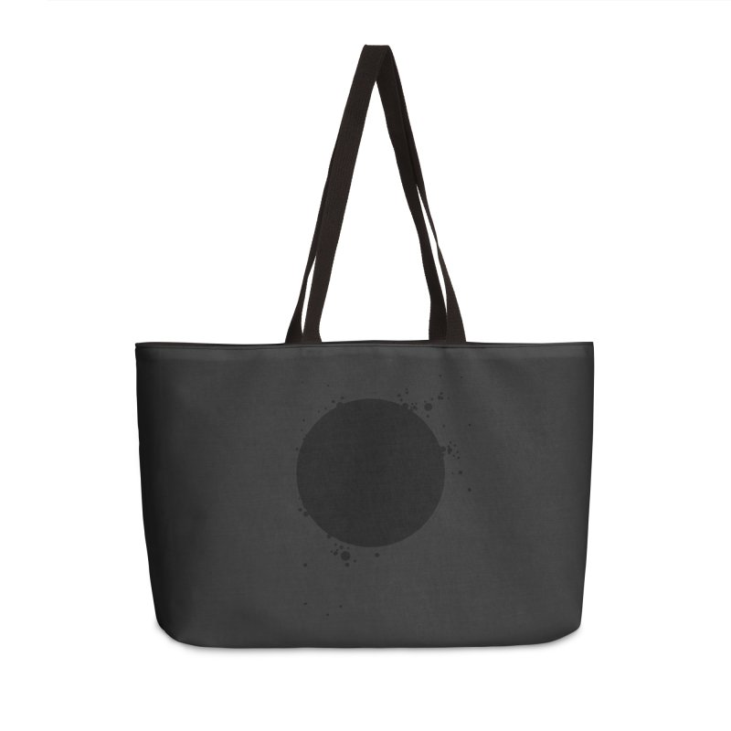 Black Hole Accessories Weekender Bag Bag by I am a graphic designer