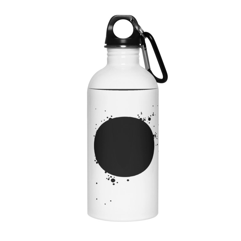 Black Hole Accessories Water Bottle by I am a graphic designer