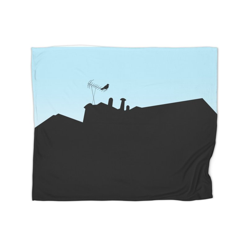 Solitary Home Fleece Blanket Blanket by I am a graphic designer