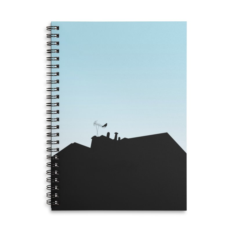 Solitary Accessories Lined Spiral Notebook by I am a graphic designer