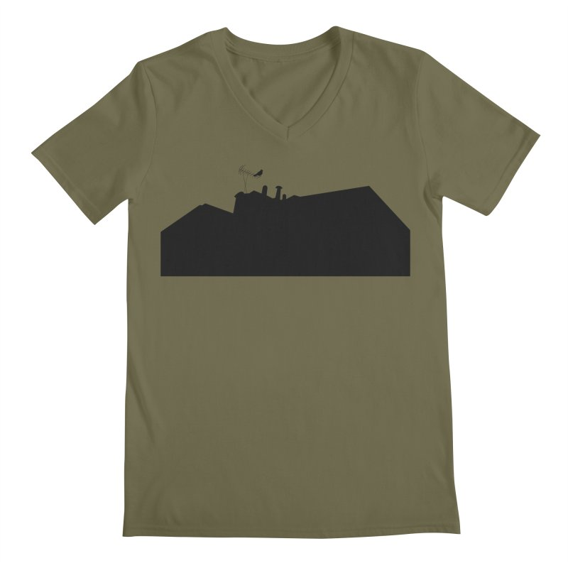 Solitary Men's Regular V-Neck by I am a graphic designer