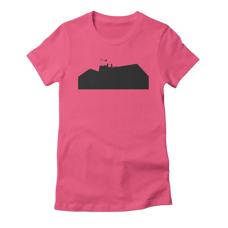 Solitary Women's Fitted T-Shirt by I am a graphic designer