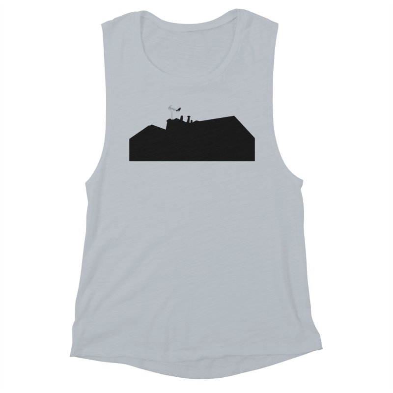 Solitary Women's Muscle Tank by I am a graphic designer