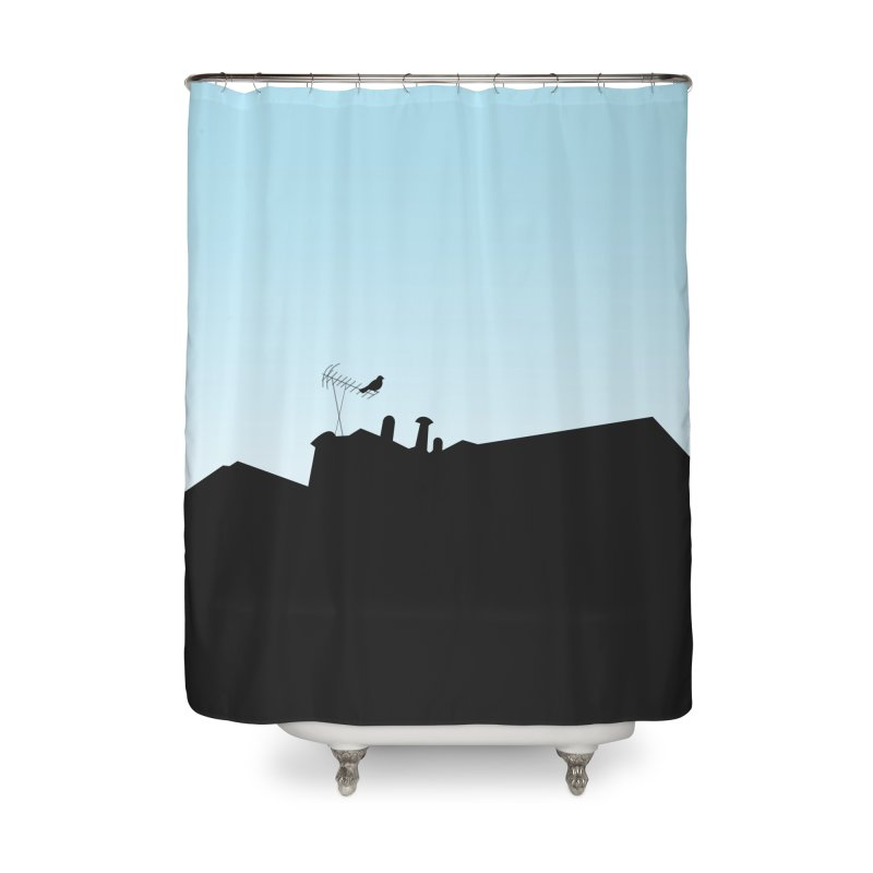 Solitary Home Shower Curtain by I am a graphic designer